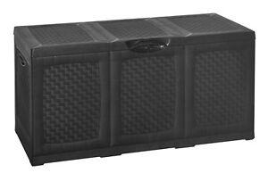 Box In Plastica Per Giardino.380l Grande Esterno Carico Giardino Magazzinaggio Rullo Box Plastica