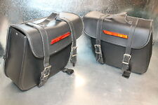 Motorcycle Cruiser Saddlebag Saddle Bag Set Pair Used 16 x 12 x 5