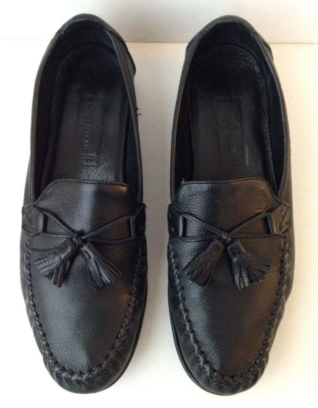 Cole Haan Tassel Soft Black Textured Leather Tassel Haan Loafers Men's Shoes Size 11 B 29c565