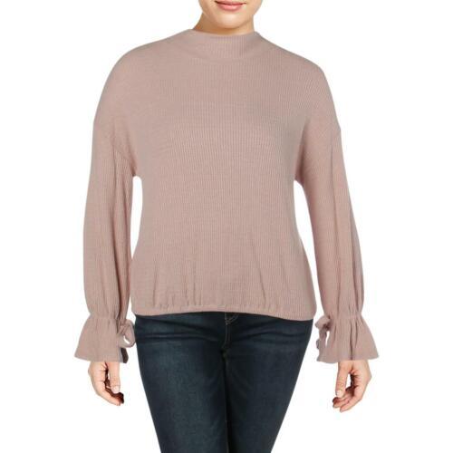 William Rast Womens Ellie Tie Sleeves Mock Neck Pullover Sweater Top BHFO 6468