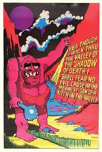 new! 1970s Meanest Valley SOB black light poster replica magnet