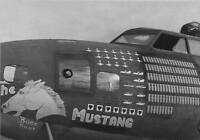 "WWII Photo B-17 Flying Fortress Nose Art ""Mustang""  World War 2   WW2 / 5136"