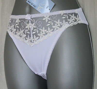 NEW Valbonne White Lacy Brief Sizes 8/10, 10/12, 14/16 & 18/20 FREE P&P