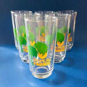 Tropicali-FABBRI-amarene-set-6-bicchieri-pubblicitari-anni-70