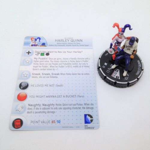 Heroclix The Flash set Harley Quinn #046 Rare figure w//card!
