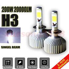 CREE COB H3 200W 20000LM LED Headlight Bulb Kit Low Beam Power 6500K White Light