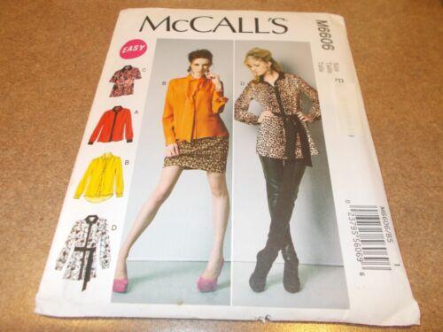 McCalls Pattern M6606 Ms Tops~Tunics w//Sleeve /& Hem Variations /& Tie