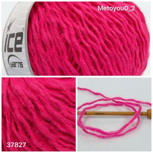 37827 Knitting Wool Dark Pink 1 Ball Ref ICE UGUR WOOL 50/% Wool