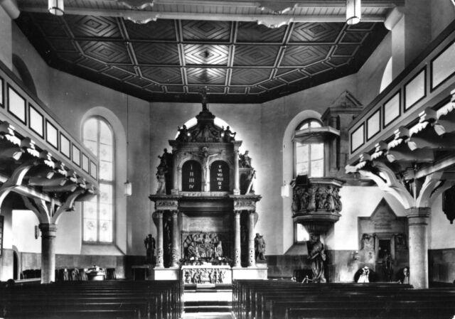 AK, Bad Schandau, St. Johanniskirche, Innenansicht mit Altar, 1971