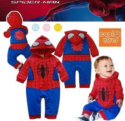 Baby Boy Spiderman Batman Fancy Dress Costume Outfit School Birthday Party 6-24M