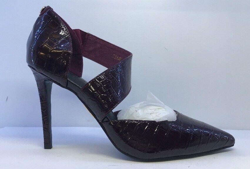 MODA Damens's Wine Sandale Pointed Heel Sandale Wine Eu 40 45f0c1