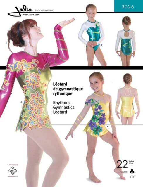 Jalie Rhythmic Gymnastics Twirling Skirted Leotard 22 Size Sewing