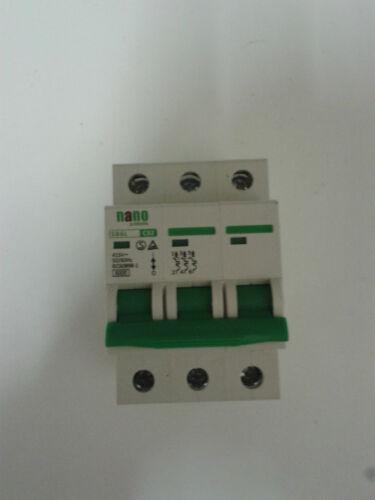 20 A 32 A 40Amp Nano Electric 3 Pôle Disjoncteur 16 A breaker disjoncteurs 10 A Surcharge Commutateur 6 A