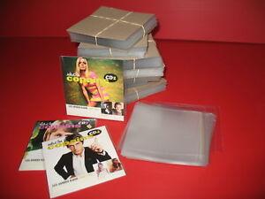 LOT-100-POCHETTES-PROTECTION-PLASTIQUE-POUR-CD-SINGLE-2-TITRES