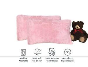 Plush Teddy Bear Pair of Pillowcases