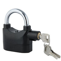 Siren Alarm Lock Security Anti-theft Alarmed Padlock Motor Bike Bicycle Black Us