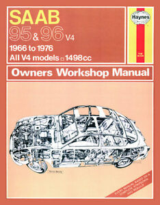 0198 haynes saab 95 and 96 petrol 66 76 up to r workshop manual rh ebay co uk 2002 Saab 9-5 1999 Saab 9-5 Grey