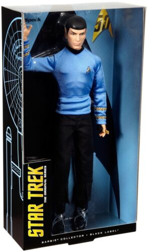 Spock Doll Barbie Star Trek 50th Anniversary Mr