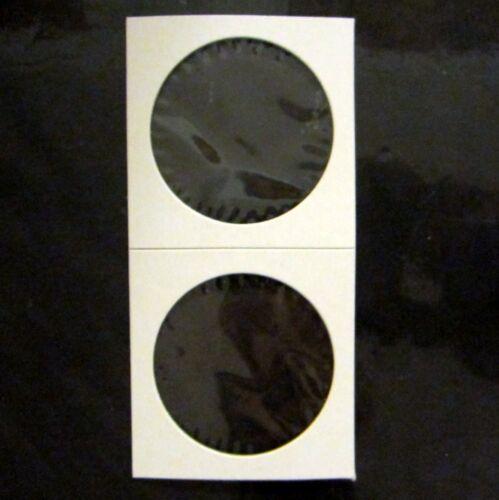 50 Large Dollar Size 2x2 Mylar Cardboard Coin Flips for Storage$1 Holder