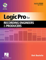 Logic Pro Recording Engineers & Producers Daw Quick Pro Guide Book Dvd-rom