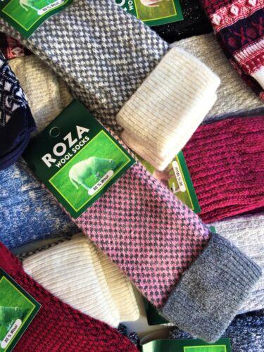 3 Pairs Women Ladies Wool Socks High Quality Cosy Long Winter Warm SocksUK ZEDGQ