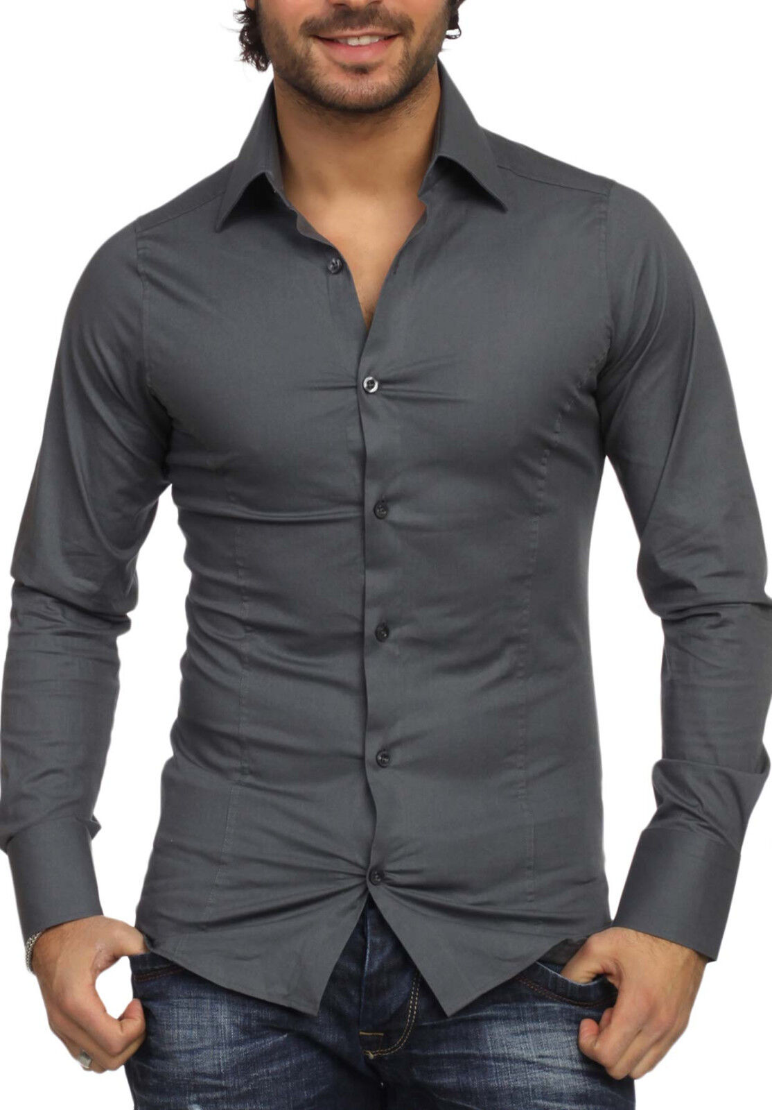 Grigio Scuro Antracite - Anthracite Waisted Shirt