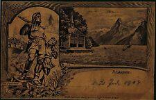 Tellskapelle, Karte in interessante Farbe, Verlag Gebr. Metz Basel, 1904