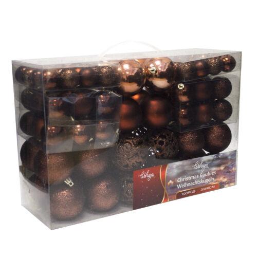 1b-Ware 100tlg boules de Noël Boules de Noël Décorations ø3//4//6cm Marron