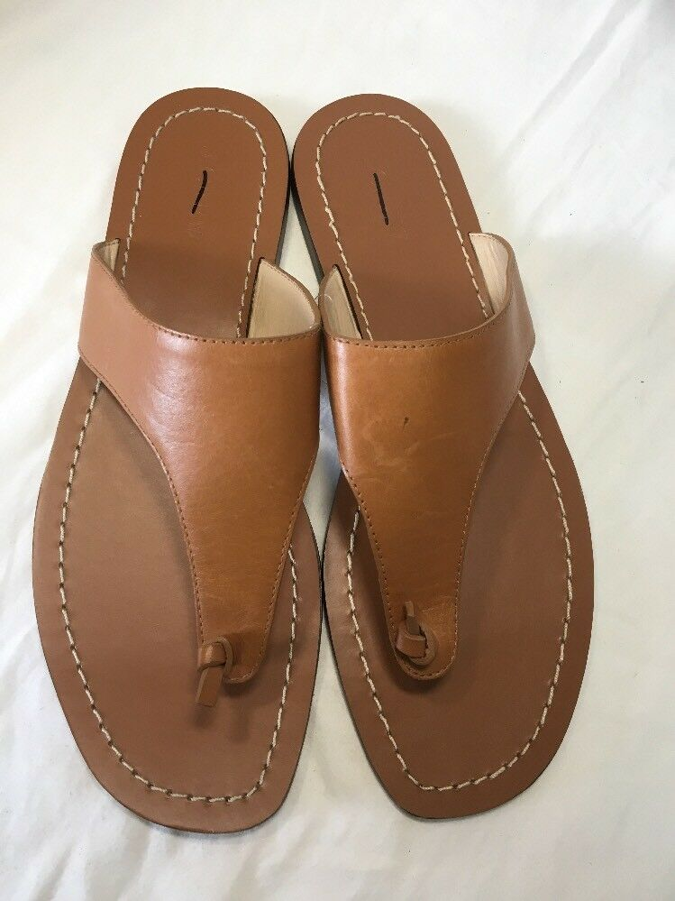 J CREW PLAYA COMFY SANDALS COMFY PLAYA STRAPS LEATHER BROWN SIZE 10 G2141 67a40a