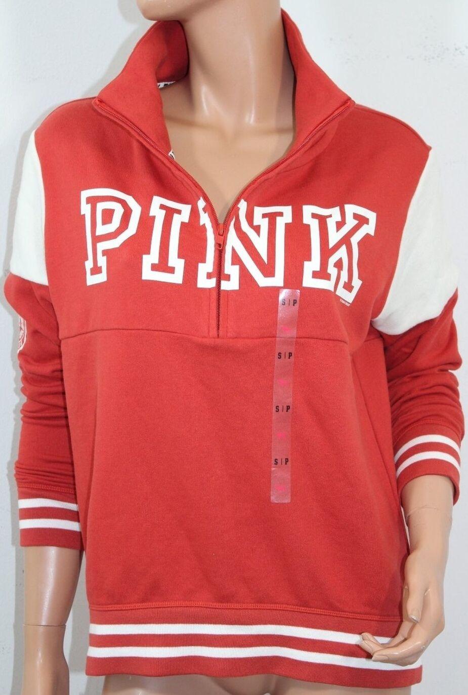 Pink By Victoria's Secret  Fleece High & Low Half Zip Sweatshirt Small NWT