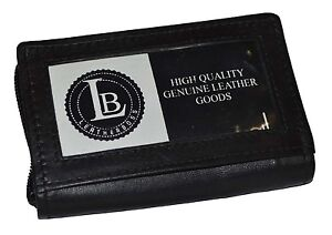 CARD-PICTURE-HOLDER-ALL-AROUND-ZIPPER-BLACK-30-PAGES-GENUINE-LEATHER