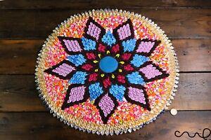 Handmade-Fabric-Round-Rug-Door-Wall-Decor-Mat-Circular-None-Braided-Rug-50cm1913