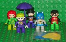 LEGO - Duplo Batman Minifigures: Batman, Robin, Joker, Poison Ivy & Penguin