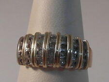 K24 LADIES OR GENTS 9CT GOLD 0.50 CARAT (1/2 CT) DIAMOND RING