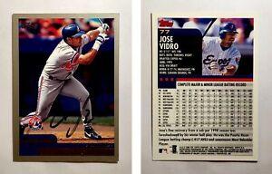Jose-Vidro-Signed-2000-Topps-77-Card-Montreal-Expos-Auto-Autograph