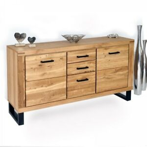 sideboard eiche teilmassiv ge lt kommode anrichte schrank highboard 2346k ebay. Black Bedroom Furniture Sets. Home Design Ideas