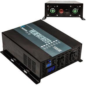 Power-Inverter-1000W-12V-DC-to-120V-AC-Pure-Sine-Wave-Inverter-Run-A-Fridge-LED