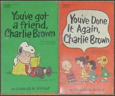 YOU'VE DONE IT AGAIN & YOU'VE GOT A FRIEND, CHARLIE BROWN ~ CHARLES M SCHULTZ PB