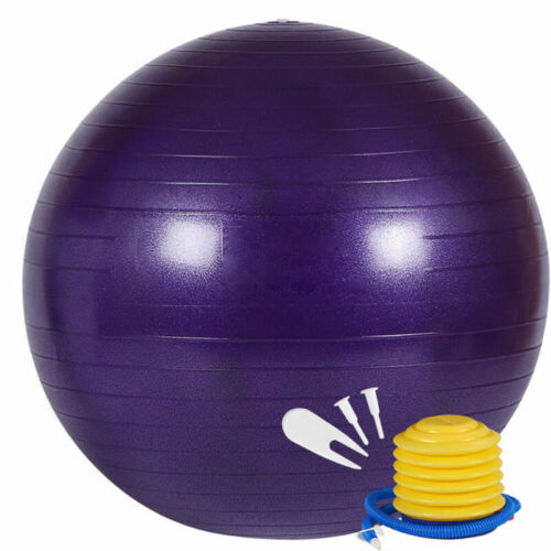 Details about  /55CM Yoga Ball with Air Pump Anti Burst Exercise Balance Workout Stability Hot