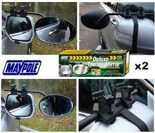 Nuevo par de Maypole 8327 Universal Vidrio Convexo Deluxe Coche Caravana Remolque Espejo