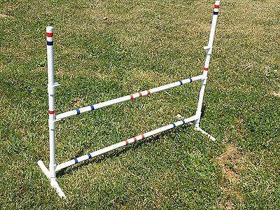 6 Dog Agility Equipment Bar Jumps, Obedience, Flyball Fun Choices