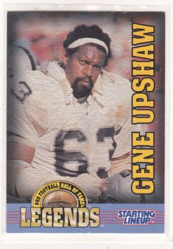 Oakland Raiders Starting Lineup Card LEGENDS 1998  GENE UPSHAW Vintage