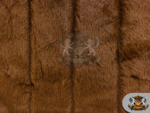 """Mink BROWN Faux Fur Fabric / 58"""" Wide / Sold by the yard"""