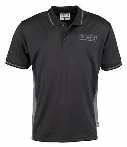 Men-039-s-JCB-Trade-Performance-Work-Polo-Shirt-Black-Grey-M-Medium-40-034-BNWT-NEW