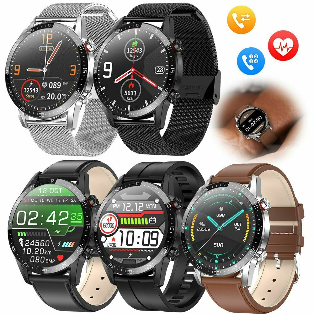 Men's Fashion Smart Watch Heart Rate Monitor Sport Wristwatch for iPhone Android