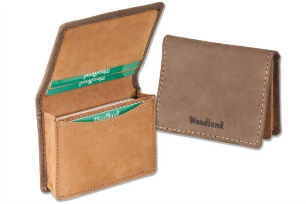 + Woodland-astuccio Per 22 Carte Di Credito In Pelle Bufalo D 'marrone/cognac 6212947 Sapore Aromatico