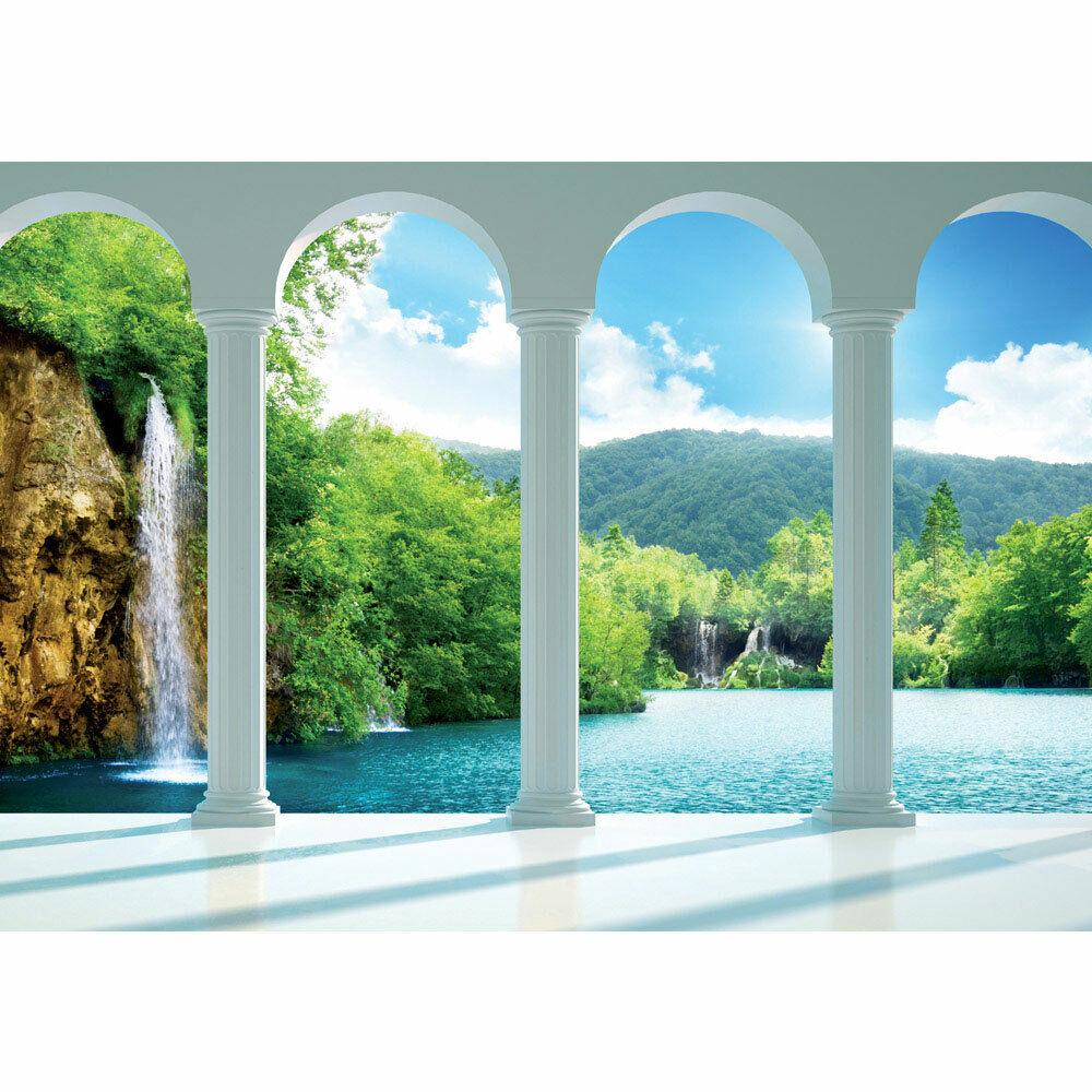 Foto Mural Cascada Lago Montaña Himmel Arco Liwwing N°2124