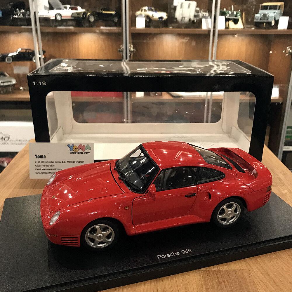 AUTOART 1 18 PORSCHE 959 rouge DIE-CAST CAR MODEL 78082