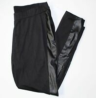 Simply Emma Pleather Leggings 3x Black Faux Leather Insert