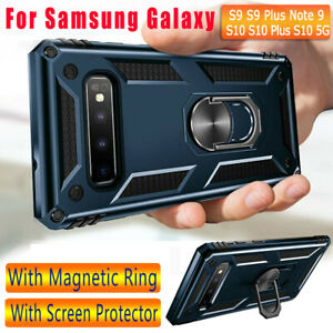 Military-Armor-Case-For-Samsung-Galaxy-Note-10-9-S10-Plus-5G-Magnetic-Ring-Cover